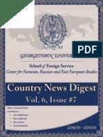 CERES News Digest Vol. 6 Week 7; Feb. 23 - 27