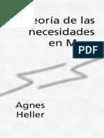 Agnes Heller - Teoría de Las Necesidades en Marx