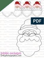 Artesanato de Natal Moldes Papai Noel
