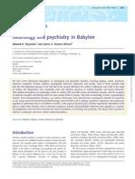 Neurology and Psychiatry in Babylon