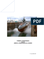 Resistencia al avance de un submarino