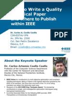 Como Publicar en Una Revista en El Area Ingenieria Dr Carlos Coello