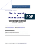 PLAN DE NEGOCIOS + PLAN DE MARKETING