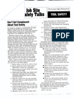 Tool Safety Toolbox Talk