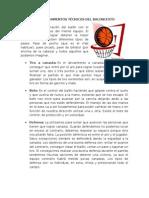 Los Fundamentos Técnicos Del Baloncesto