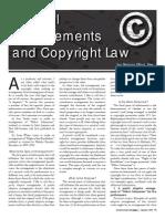 musical arrangements copyright law article 2011