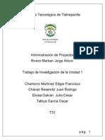Trabajo de Investigacion_Proyectos