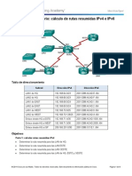 6.4.2.5 Lab - Calculating Summary Routes With IPv4 and IPv6