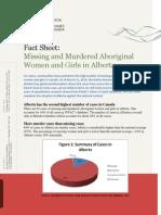 Missing and Murdered Aboriginal Women and Girls in Alberta