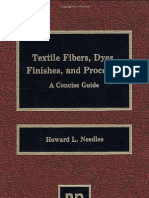 Textile Fibers, Dyes, Finishes and Processes