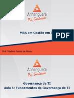 Governança Em Ti, Itil e Cobit - Aula 01
