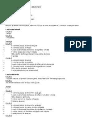 dieta para diabeticos semanal pdf