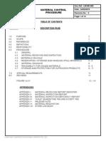 Material Control Procedure SAMPLE