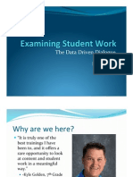 examining student work - staff development