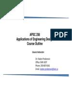 Apsc 258 Course Outline