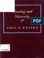 Saul Kripke - Naming and Necessity