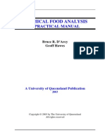 University of Queensland-Various Food Related Practicals