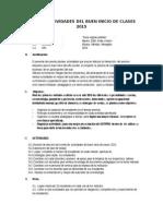 Plan de Actividades Del Buen Iniciode Clases 2015 ( en Funionamiento)