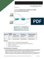 Actividad 16 Configuración de DHCP Con SDM y La Interfaz de Línea de Comandos de Cisco IOS