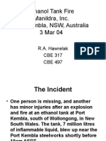 Ethanol Tank Fire incident report