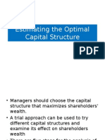 EstimatingtheOptimalCapitalStructure.ppt