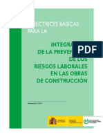Directrices Integracion PRL en Construccion