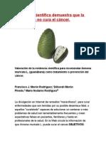 Evidencia Científica Demuestra Que La Guanábana No Cura El Cáncer