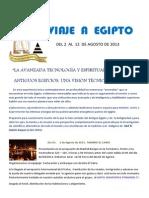 Programa Viaje a Egipto Agosto 2013