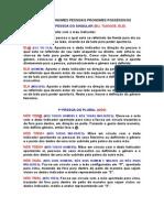 A.2 Pronomes Pessoais Possessivos Demonstrativos
