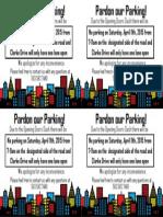 updated pardon our parking postcard
