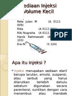 Sediaan Injeksi Volume Kecil