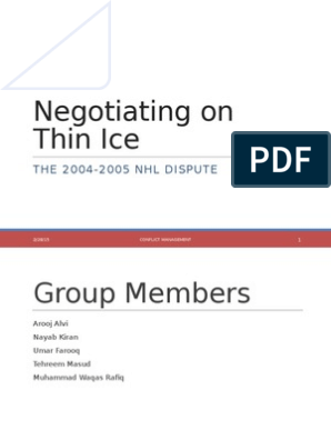 negotiating on thin ice slideshare