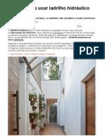 Motivos Para Usar Ladrilho Hidráulico Na Sua Casa - Revista Casa Linda