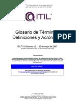 ITILV3 Glossary LA Spanish V2.1 Nov09