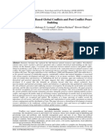 Natural Resource-Based Global Conflicts and Post Conflict Peace Building