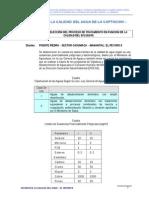 Analisis de Calidad Del Agua Casumaca
