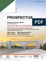 Almaha Ceramics prospectus