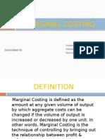 Marginal Costing Roll No 31