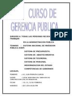 Caratula Curso de Gestion Publica