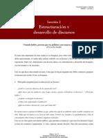 Leccion2 Estructuracion y Desarrollo de Discursos