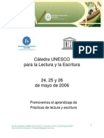 Memorias Catedra Unesco