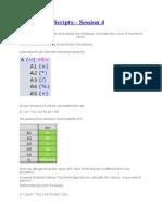 Calculation Scripts 4