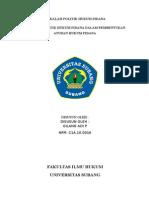 Peranan Politik Hukum Pidana Dalam Pembentukan Aturan Hukum Pidana