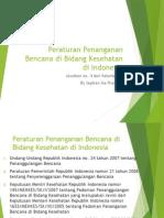 Peraturan Penanganan Bencana Di Bidang Kesehatan Di Indonesia