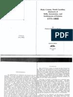 Index to Wake County, NC Wills, Inventories & Estates