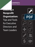 Leading a Nonprofit Organization