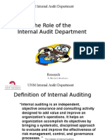 Role of Internal Audit