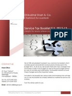 Service Tax Booklet 2012