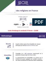 Odoxa Pour Itélé CQFD Et Le Parisien Aujourdhui en France La Place Des Religions en France