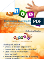 Teacher Sharing Session - Writing of Lesson Objectives
